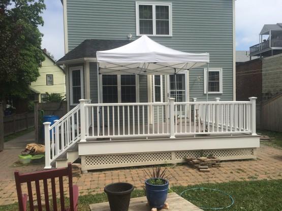 Deck Repair Posts and Handrail