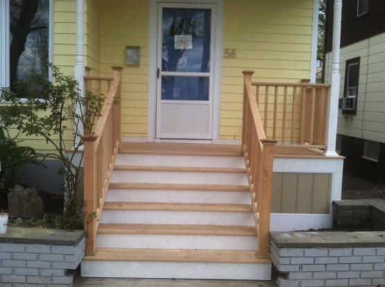Rebuild Front Deck in Somerville