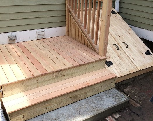 Deck & Wooden Cellar Doors in Charlestown