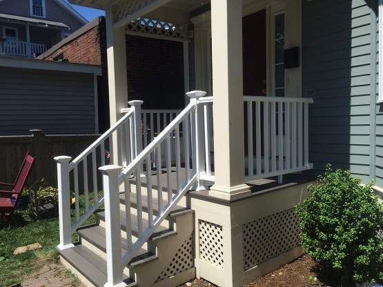 Deck Repair Posts and Handrail
