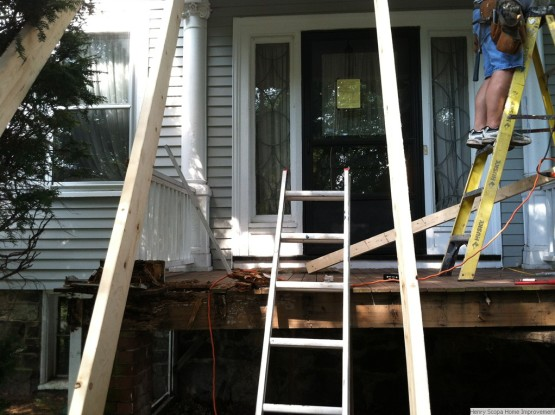 Demo Rebuild Rotted Front Porch Melrose